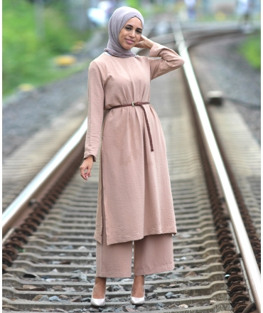 Suit with long Tunic