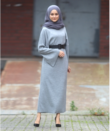 Knit Dress with Wide Sleeve