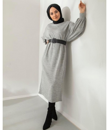 Dress with Ballon Sleeves