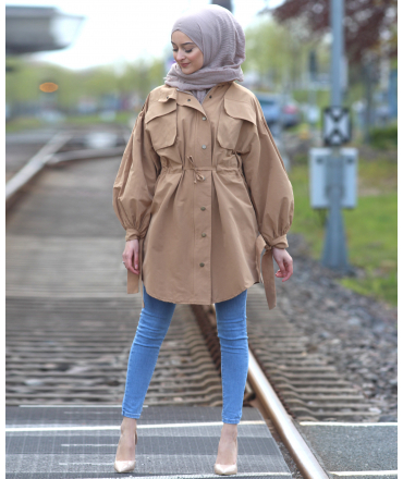 Jacket with Baloon Sleeves